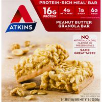 Atkins Protein-Rich Meal Bar Peanut Butter Granola