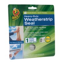 Duck Brand Heavy-Duty Weatherstrip Seal, Extra-Large