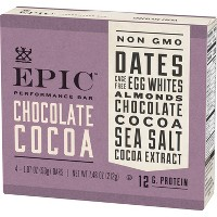 EPIC Chocolate Cocoa Protein Bar - 4ct