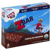 CLIF Kid Organic Chocolate Brownie Baked Whole Grain Energy Snack Bars