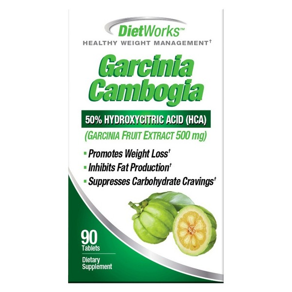 DietWorks Garcinia Cambogia Healthy Weight Management Tablets - 90ct