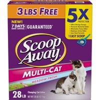 Scoop Away Multi-Cat Clumping Cat Litter, Scented, 28 lbs