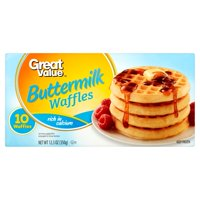 Great Value Buttermilk Waffles, 12.3 oz, 10 Count