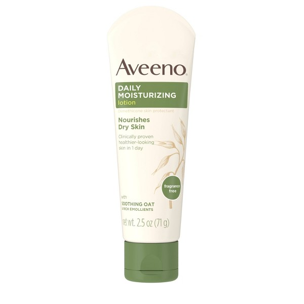 Unscented Aveeno Daily Moisturizing Lotion To Relieve Dry Skin - 2.5 fl oz