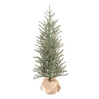 Holiday Time Green Fir Tree with Burlap Base Christmas Decoration, 48