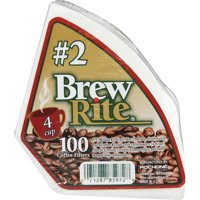 """Brew Rite #2 Cone Coffee Filters, 100 Count"""
