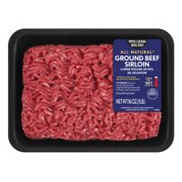 All Natural* 90% Lean/10% Fat Ground Beef Sirloin Tray, 1 lb