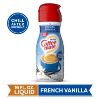 COFFEE MATE French Vanilla Liquid Coffee Creamer 16 Fl. Oz. Bottle Non-dairy Lactose Free Gluten Free Creamer Refrigerate After Opening