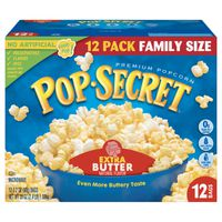 Pop Secret Premium Popcorn, Extra Butter, Family Size