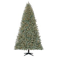 Holiday Time Pre-Lit 7.5' Birchwood Fir Artificial Christmas Tree, Clear-Lights