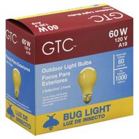 GTC Bug Light 60 Watt Outdoor Light Bulbs