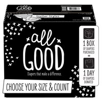 All Good Absorbent and Hypoallergenic Diapers (Choose Your Size & Count)
