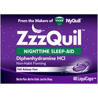 V ZZZQuil ZzzQuil Nighttime Sleep Aid, Non-Habit Forming, 48 Ct LiquiCaps