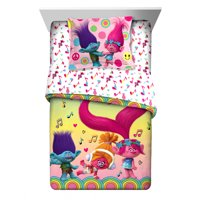 Trolls Love the Beat Kids Bedding Twin or Full Comforter & Sham Set