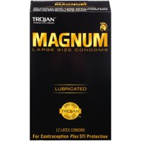 Trojan Magnum Large Size Lubricated Condoms - 12 count