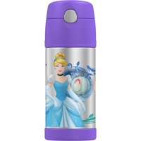 Thermos Vacuum Insulated Stainless Steel 12 Ounce Funtainer with Straw - Disney Princess