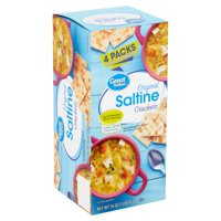 Great Value Original Saltine Crackers, 4 count, 16 oz