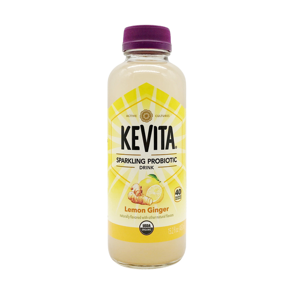 Kevita Organic Lemon Ginger Probiotic Beverage, 15.2 fl. oz.
