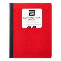 Pen + Gear Composition Book, Wide Ruled, 100 Pages, Red