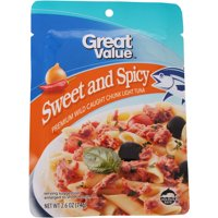 Great Value Sweet and Spicy Chunk Light Tuna, 2.6 oz