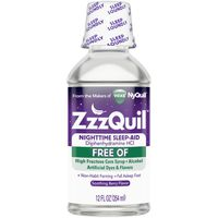 V ZZZQuil Nighttime Sleep Aid FREE OF Liquid, Soothing Berry Flavor