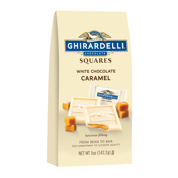 Ghirardelli Chocolate White Chocolate Squares with Caramel Filling