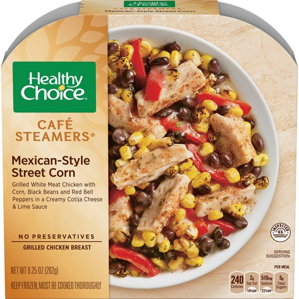 Healthy Choice Frozen Café Steamers Mexican-Style Street Corn - 9.25oz