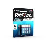 Rayovac High Energy Alkaline, AAA Batteries, 10 Count