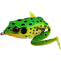 Lunkerhunt Lunker Frog Leopard Fishing Lure, Carded Pack