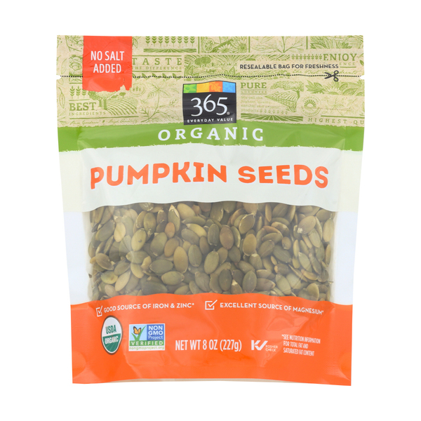 365 everyday value® Organic Pumpkin Seeds, 8 oz