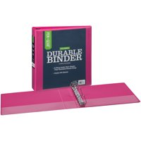 Pen + Gear Durable View Binder 1..5- Inch Slant D Rings, Pink