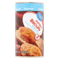 Great Value Jumbo Buttermilk Biscuits, 16 oz, 8 count