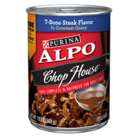 Purina ALPO Gravy Wet Dog Food, Chop House T-Bone Steak Flavor - 13 oz. Can