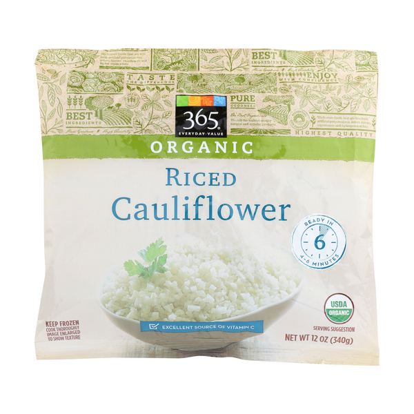 365 everyday value® Organic Riced Cauliflower, 12 oz