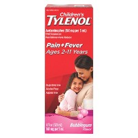 Children's Tylenol Pain + Fever Relief Liquid - Acetaminophen - Bubble Gum - 4 fl oz