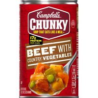 Campbell's® Chunky® Soup, Beef with Country Vegetables Soup