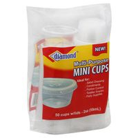 Diamond Cups, Mini, Multi-Purpose, with Lids