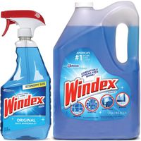 Windex Original Glass Cleaner, 32 oz with 176 oz Refill