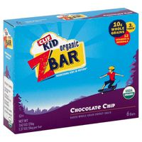 Clif Kid® ZBar Organic Iced Oatmeal Cookie Baked Whole Grain CLIF Kid ZBar Organic Chocolate Chip Baked Whole Grain Energy Snack Bars