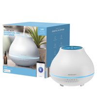 Merkury Innovations Smart Wifi Essential Oil Aromatherapy Diffuser with Voice Control Requires 2.4GHz WiFi