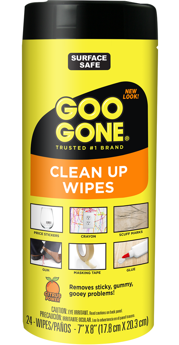 Goo Gone Clean Up Wipes Adhesive Remover - 24 Count