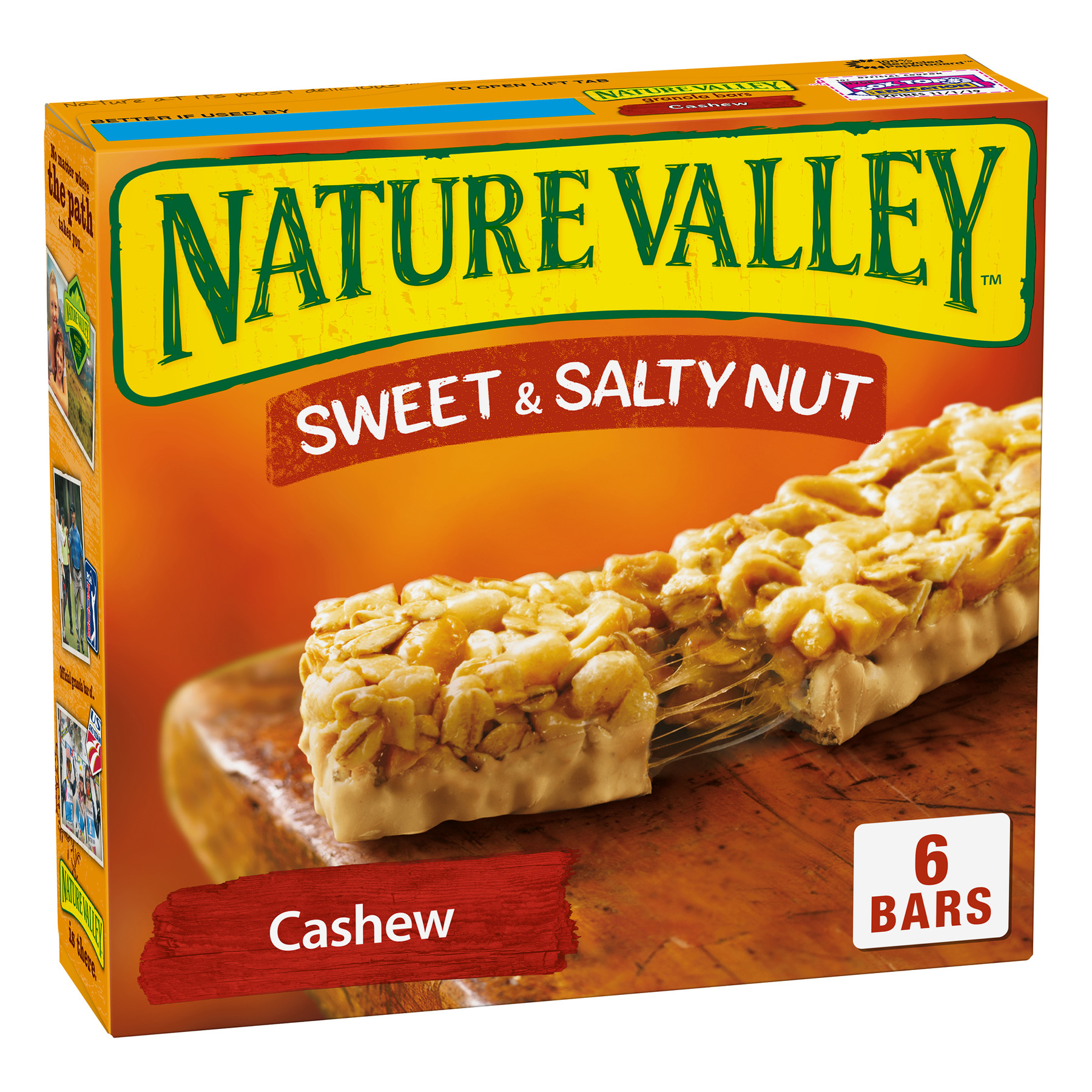 Nature Valley Sweet & Salty Nut Chewy Granola Bars, Cashew, 6 Ct, 7.4 Oz