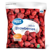 Great Value Frozen Whole Strawberries, 64 oz