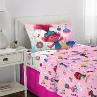 Trolls World Tour Sheet Set, Kids Bedding, Microfiber, 3 Piece Twin Size