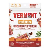 Vermont Smoke & Cure Uncured Pepperoni Turkey Sticks Multipack 6ct / 3oz