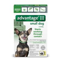 Advantage II Once-A-Month Topical Treatment For Fleas And Lice Small Dogs 3 - 10 lbs