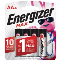 Energizer MAX AA Batteries, Alkaline Double A Batteries (4 Pack)