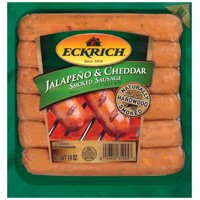 Eckrich Jalapeno and Cheddar Naturally Hardwood Smoked Sausage Links, Great for Your Favorite Recipes, Grilling and More, 14 ounces