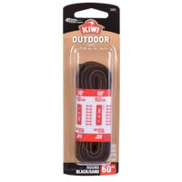 "KIWI Outdoor Round Laces Black/Sandstone 60"" 2 pairs"