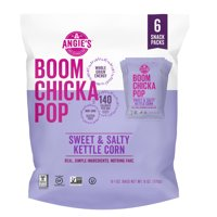 Angie's BOOMCHICKAPOP Sweet & Salty Kettle Corn Popcorn, 1 oz. 6-Count